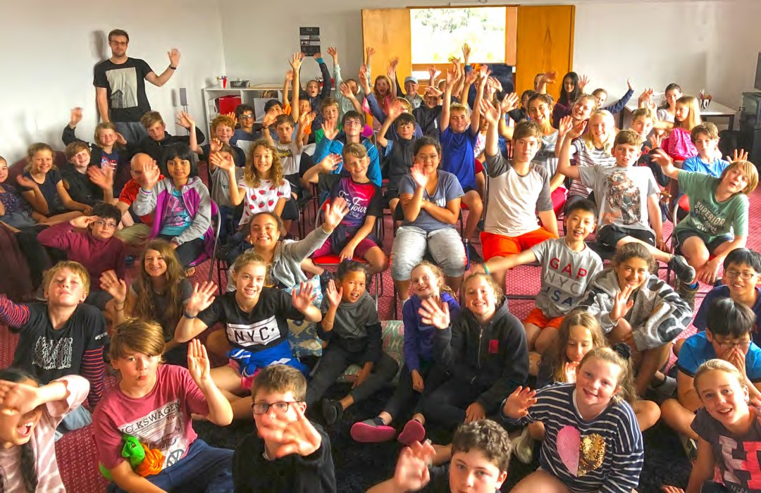 Kelburn Normal School at the special screening of Set In Stone during their summer camp in Whanganui 2018